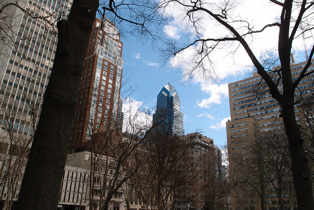 View from Rittenhouse Square