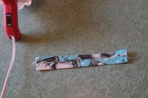 DIY No Sew Bow Tie Tutorial Step 4