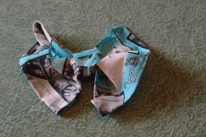 DIY No Sew Bow Tie Tutorial Step 6