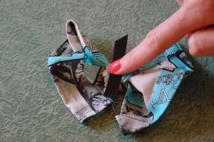DIY No Sew Bow Tie Tutorial Step 7