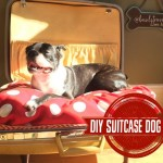 Make it Monday! DIY Vintage Suitcase Dog Bed!