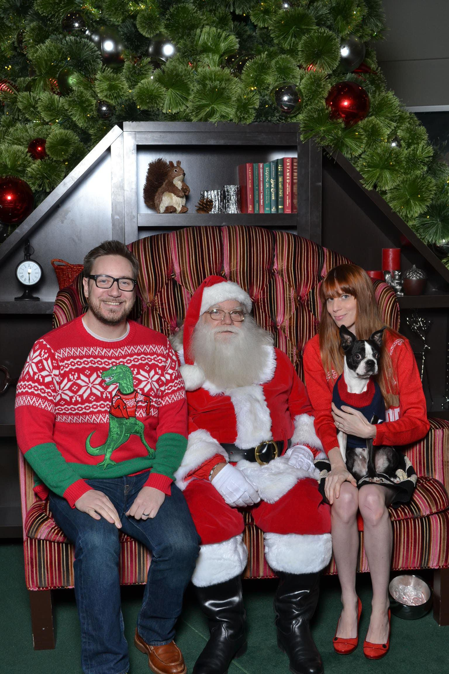 Basil's 2015 photo with Santa